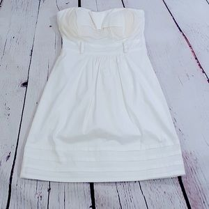 NWT Guess white cotton strapless dress small